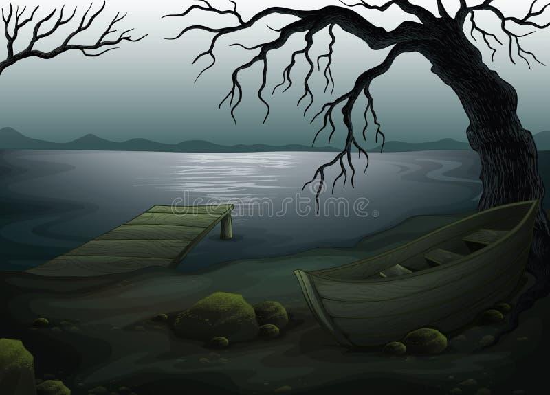 Bosque espeluznante fresco ilustración del vector