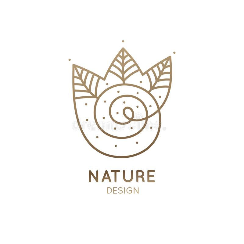 Bosque espiral del logotipo libre illustration