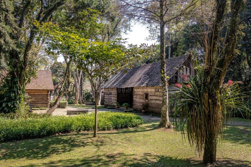 Bosque font le bois du ` s de Papa Pope - Curitiba, Parana, Brésil photo stock