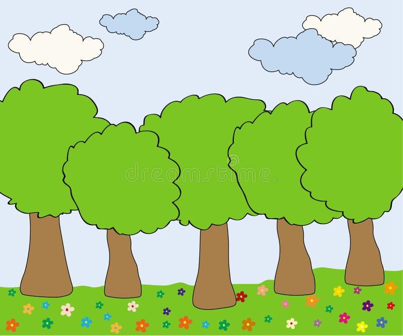 Bosque hermoso libre illustration