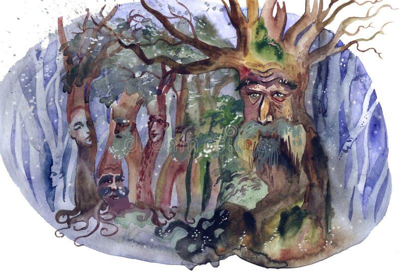 Bosque mágico ilustración del vector