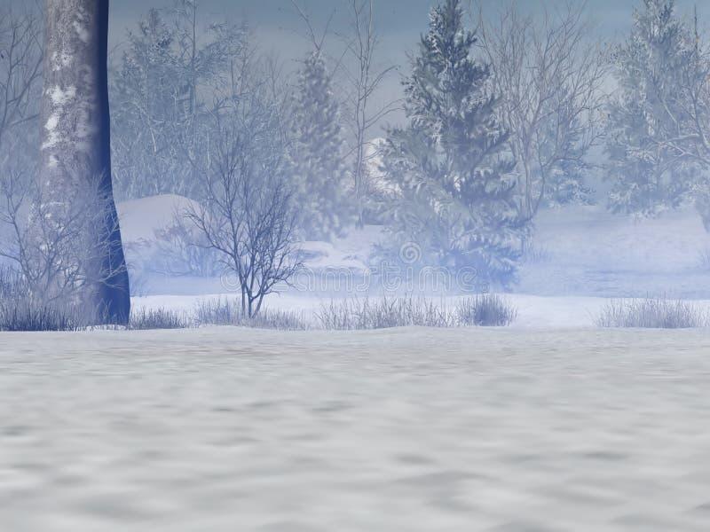 Bosque Nevado ilustración del vector