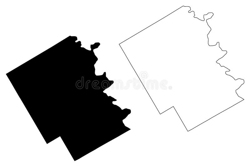 Bosque okręgu administracyjnego, Teksas mapa wektor ilustracja wektor