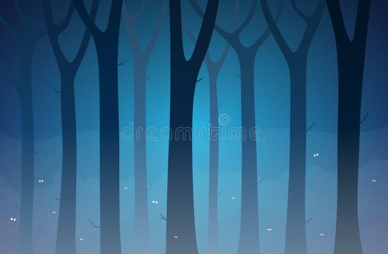Bosque oscuro stock de ilustración