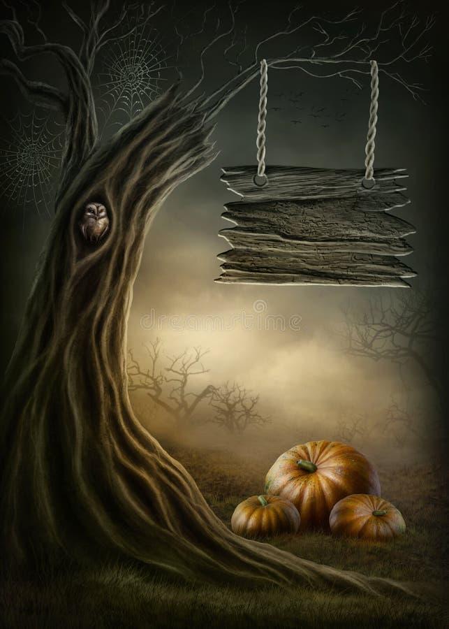 Bosque oscuro ilustración del vector