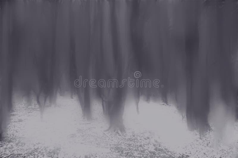 Bosque pintado imágenes de archivo libres de regalías