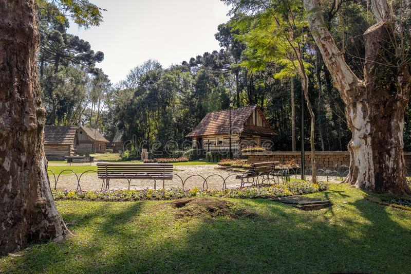 Bosque tun Papa Pope-` s Holz - Curitiba, Paraná, Brasilien lizenzfreies stockfoto