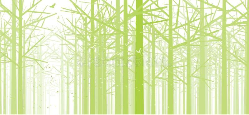 Bosque verde stock de ilustración