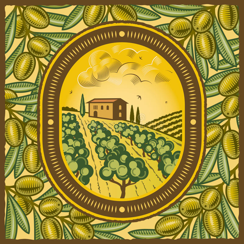 Bosque verde-oliva ilustração do vetor