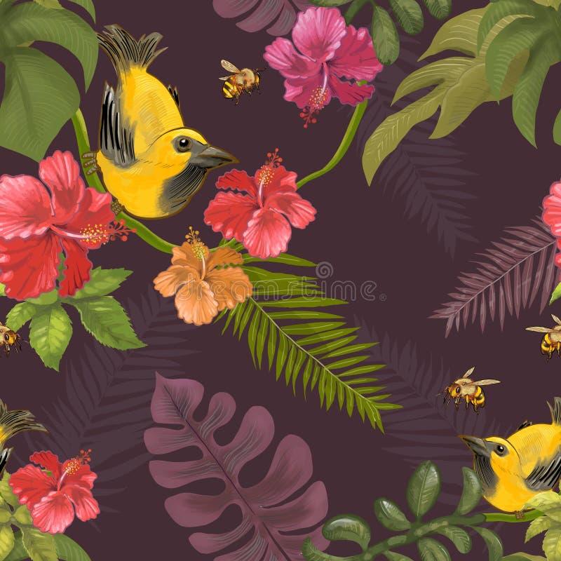 Bosque y animal dibujados mano ilustración del vector