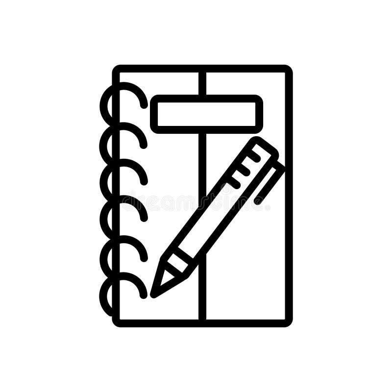 Bosquejando el vector del icono aislado en el fondo blanco, bosquejando elementos de la muestra, de la línea y del esquema en est stock de ilustración