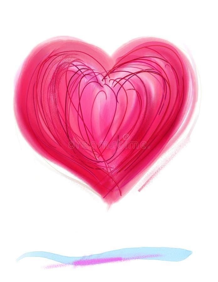 Bosquejo 2 del corazón foto de archivo libre de regalías