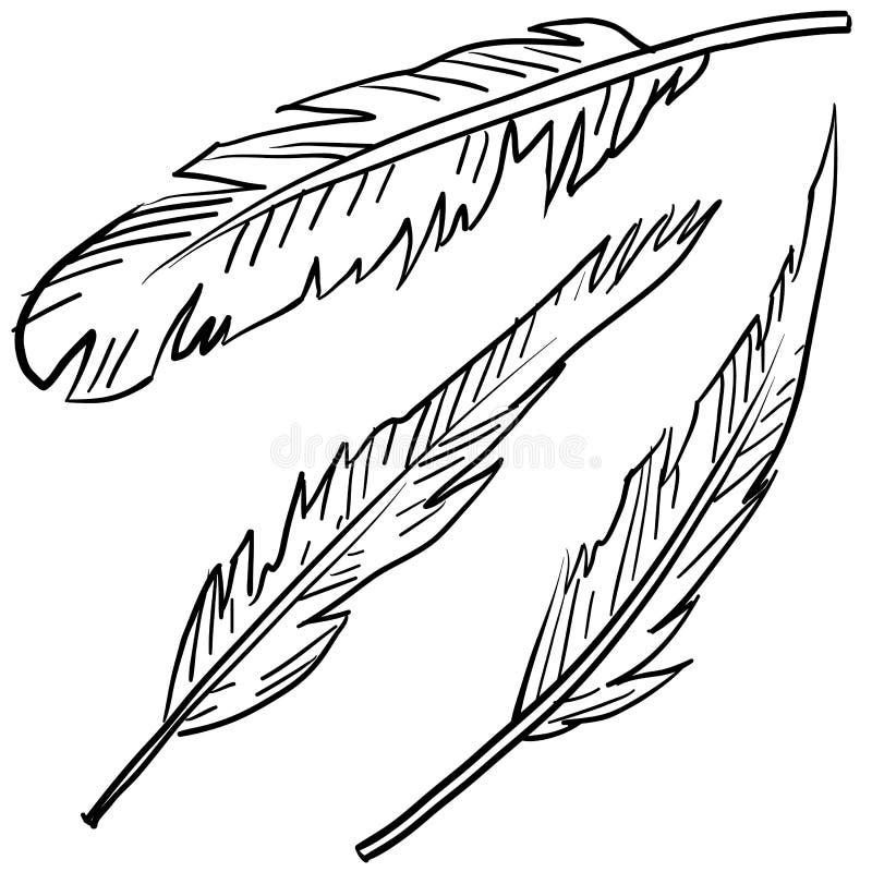 Bosquejo aviar de las plumas libre illustration