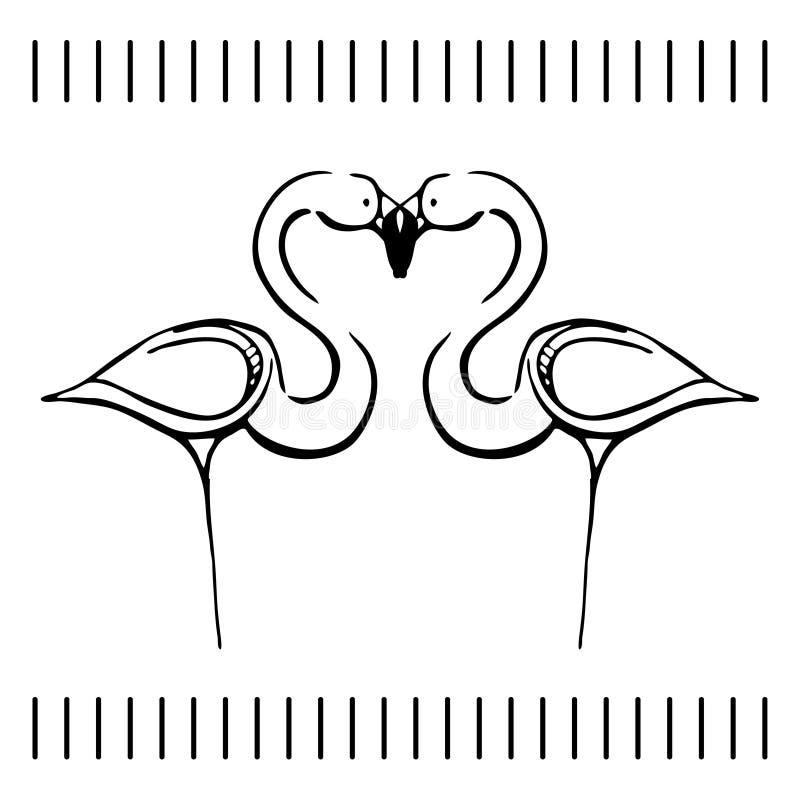 Bosquejo blanco y negro del flamenco libre illustration