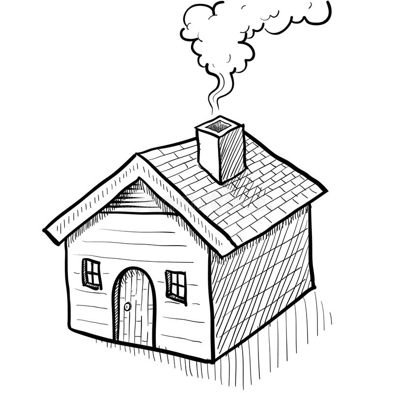 Bosquejo Comfy de la casa libre illustration