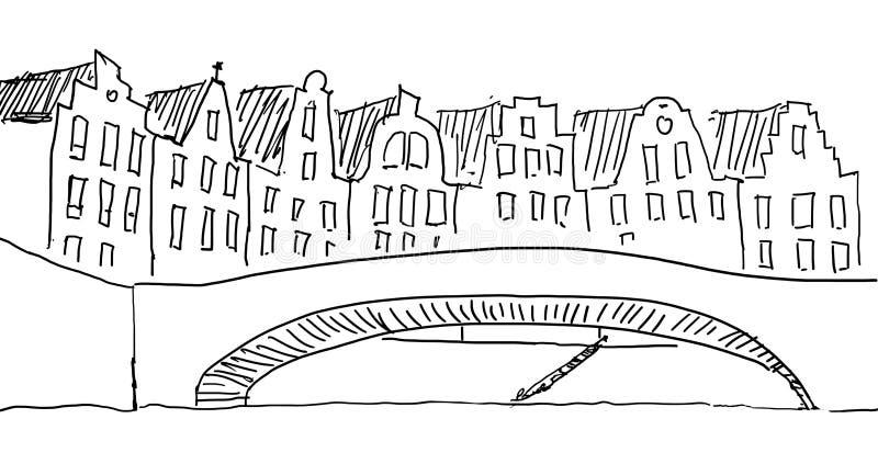 Bosquejo de Amsterdam más vieja libre illustration
