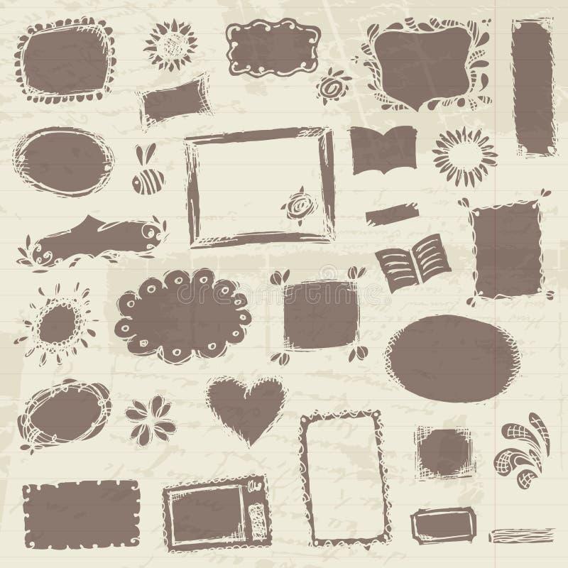 Bosquejo de bastidores, gráfico de la mano libre illustration