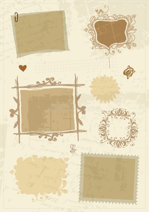 Bosquejo de bastidores, gráfico de la mano para su diseño stock de ilustración