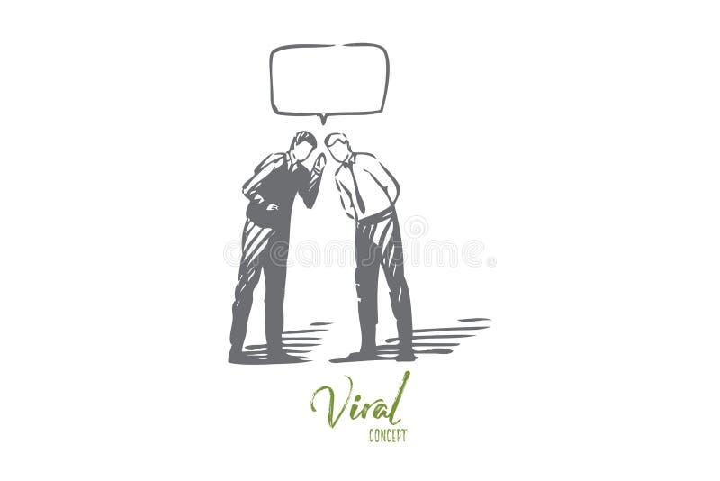 Bosquejo de comercialización viral del concepto Ilustraci?n aislada del vector ilustración del vector