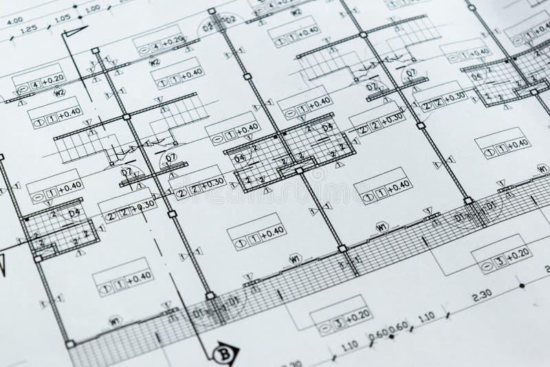Bosquejo de elaboración del proyecto del papel de modelo del diagrama de la ingeniería fotos de archivo libres de regalías