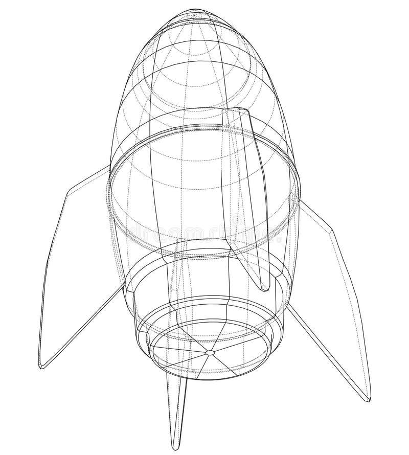 Bosquejo de la bomba Vector stock de ilustración