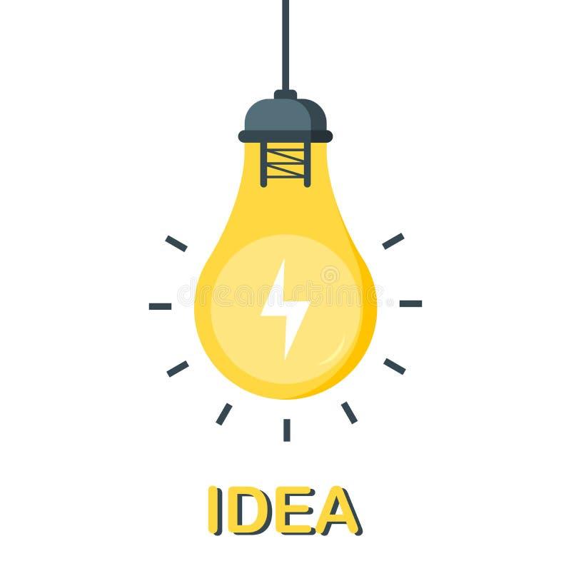 Bosquejo de la bombilla con el concepto de idea Muestra dibujada mano del garabato Ilustraci?n del vector libre illustration