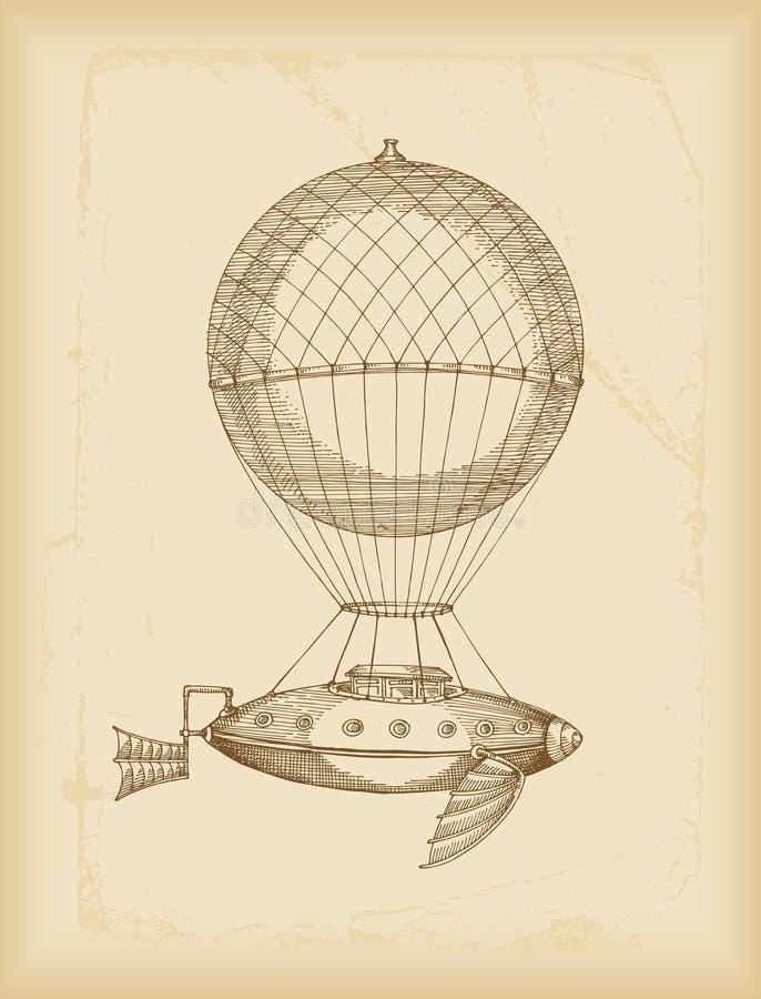 Bosquejo de la máquina de vuelo stock de ilustración