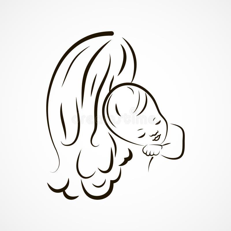 Bosquejo de la madre y del bebé libre illustration