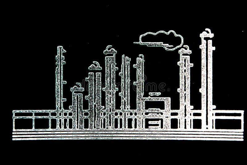 Bosquejo de la refinería imagen de archivo libre de regalías