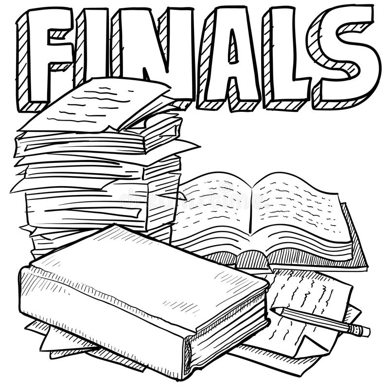 Bosquejo de los exámenes finales libre illustration