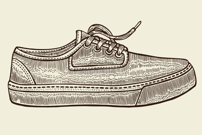 Bosquejo de los zapatos del deporte libre illustration