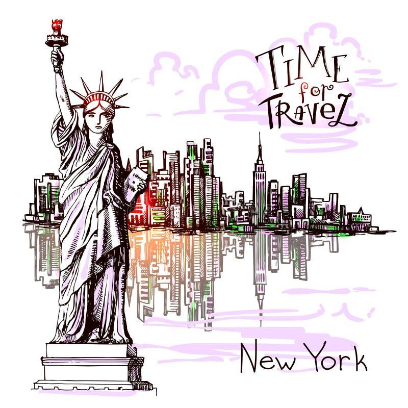 Bosquejo de Nueva York libre illustration