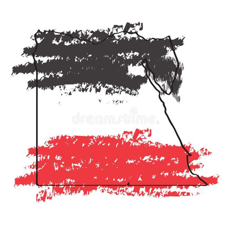 Bosquejo de un mapa de Egipto libre illustration