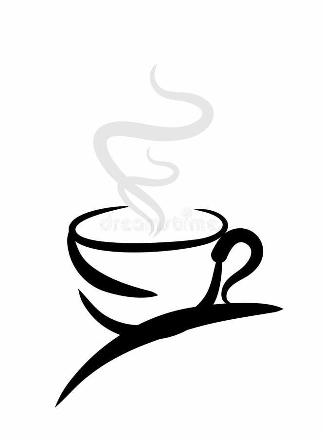 Bosquejo de una taza de café stock de ilustración