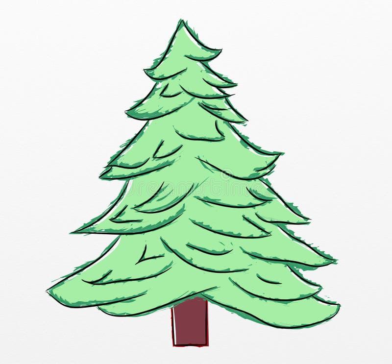 Bosquejo del árbol de navidad libre illustration