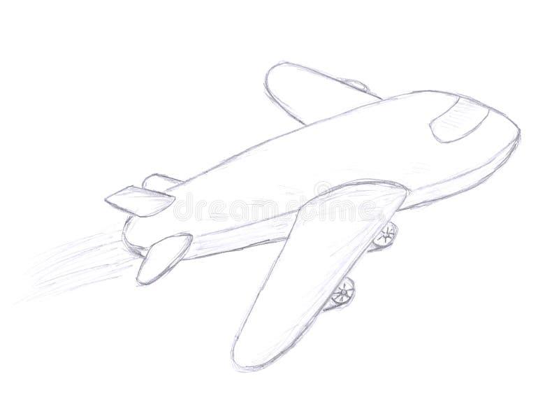 Bosquejo del aeroplano del vuelo libre illustration