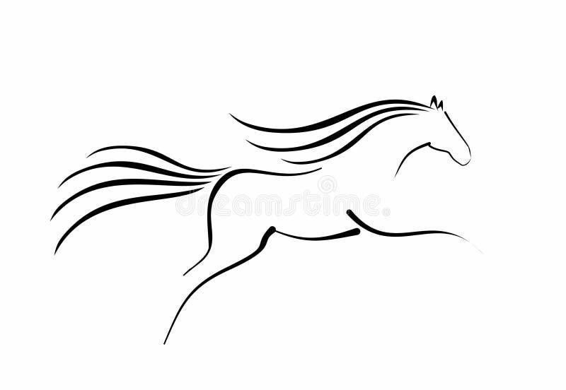 Bosquejo del caballo corriente ilustración del vector