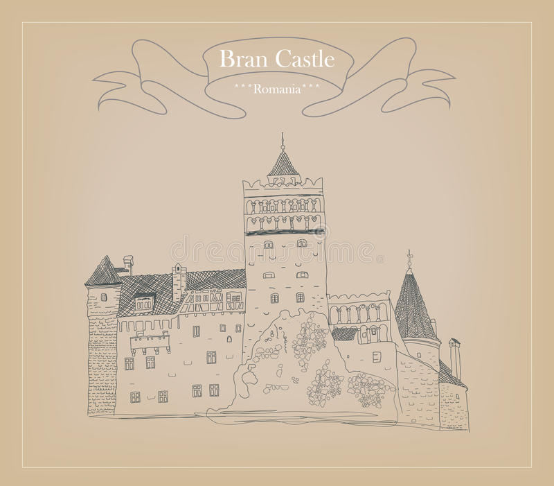 Bosquejo del castillo del salvado libre illustration