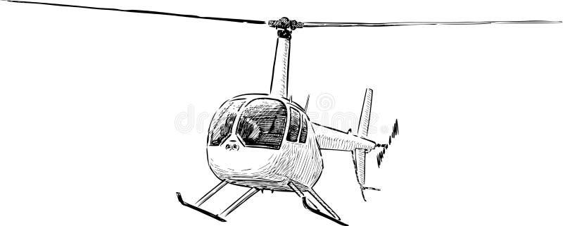 Bosquejo del helicóptero ilustración del vector