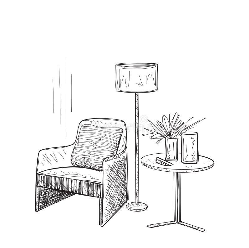 Bosquejo del interior del sitio libre illustration