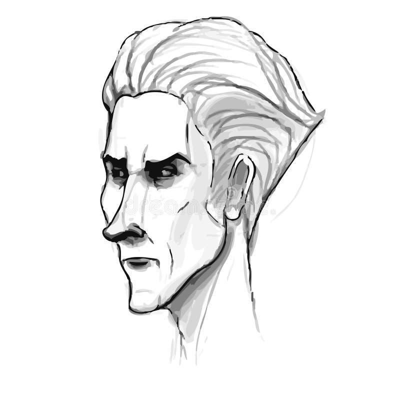 Download Bosquejo Del Retrato Del Hombre Imitación Del Dibujo De Lápiz Adentro Ilustración del Vector - Ilustración de retro, pista: 42433452
