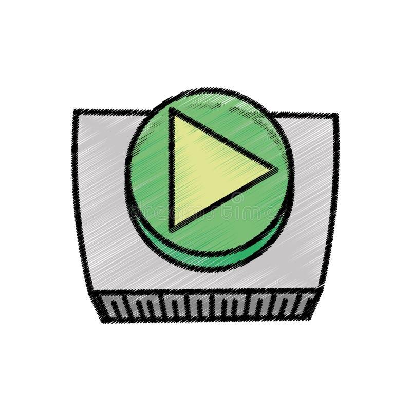 bosquejo del sistema del juego del botón stock de ilustración