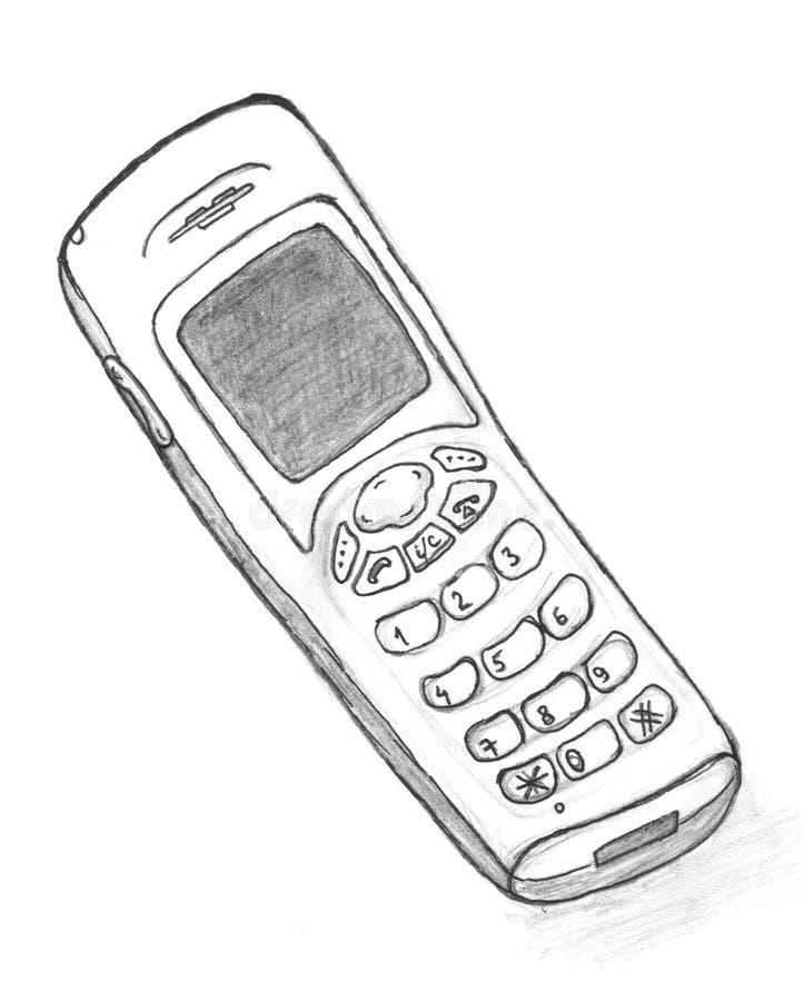 Bosquejo del teléfono fotografía de archivo libre de regalías