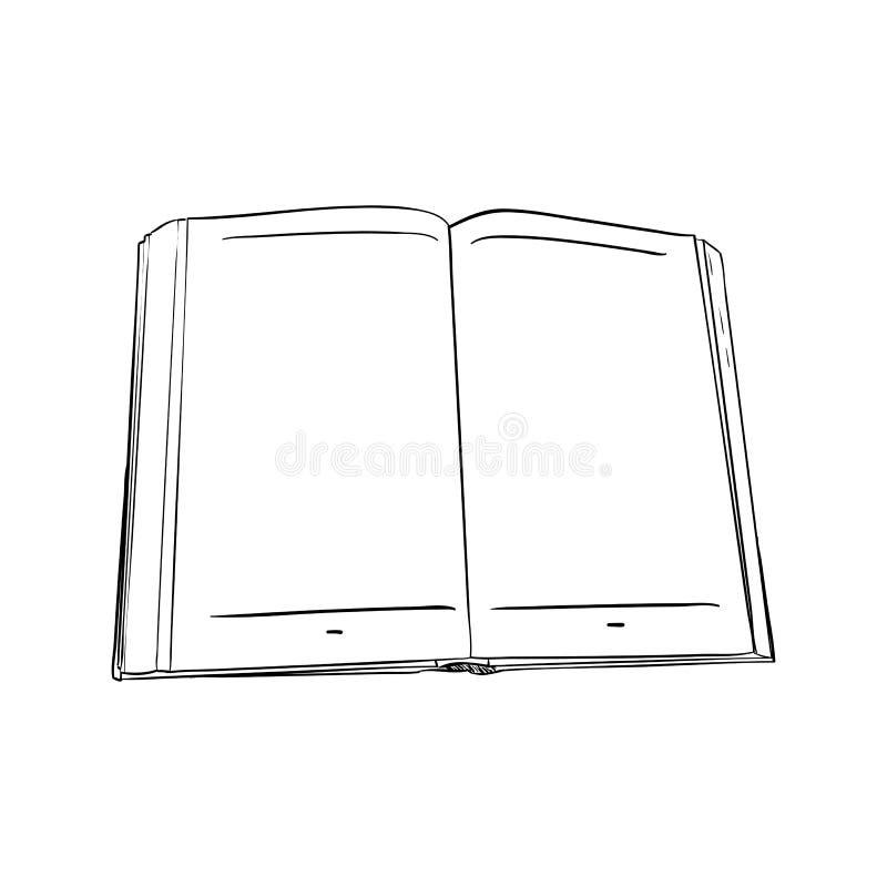 Bosquejo del vector del libro stock de ilustración