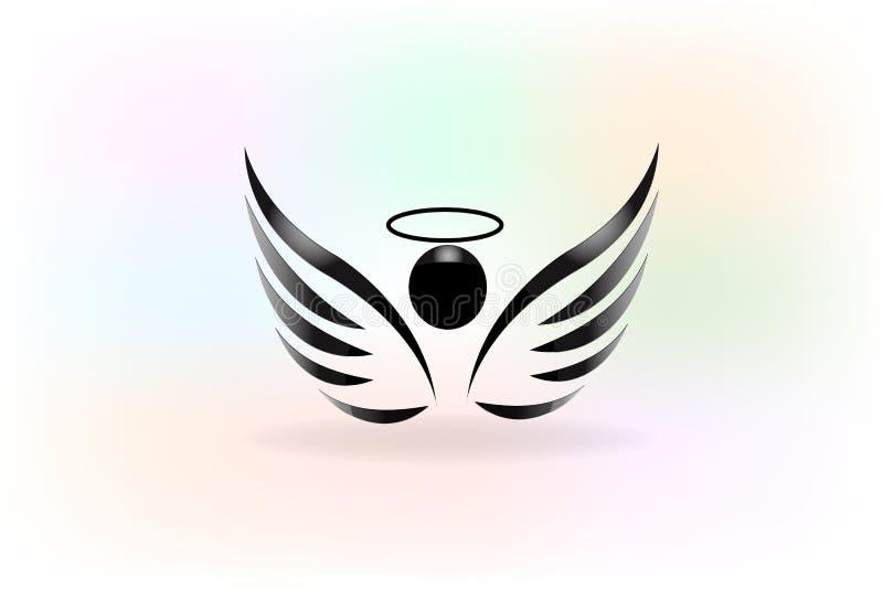 Bosquejo del vector del logotipo de las alas del ángel libre illustration