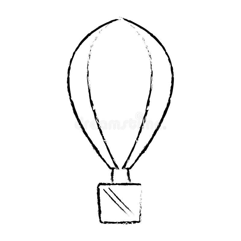 bosquejo del viaje de las vacaciones de la reconstrucción del airballoon libre illustration