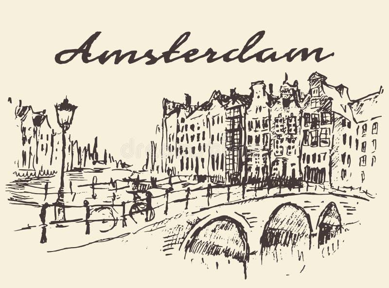 Download Bosquejo Dibujado Ejemplo Del Vector De Amsterdam De Las Calles Ilustración del Vector - Ilustración de netherlands, cityscape: 64203408