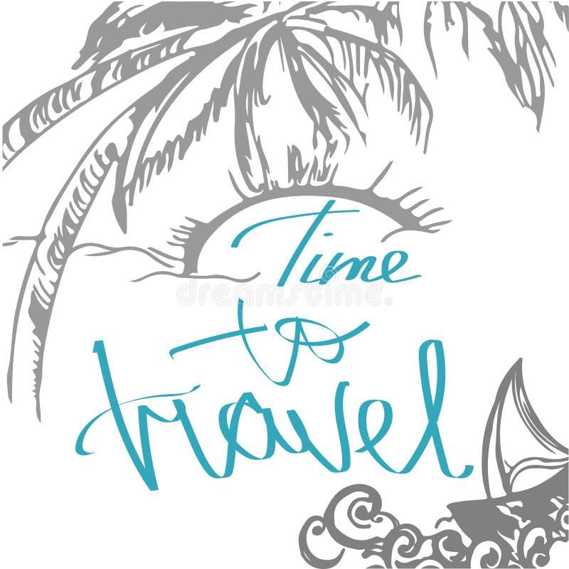 Bosquejo dibujado mano del viaje para el diseño Letras manuscritas: Advenimiento libre illustration
