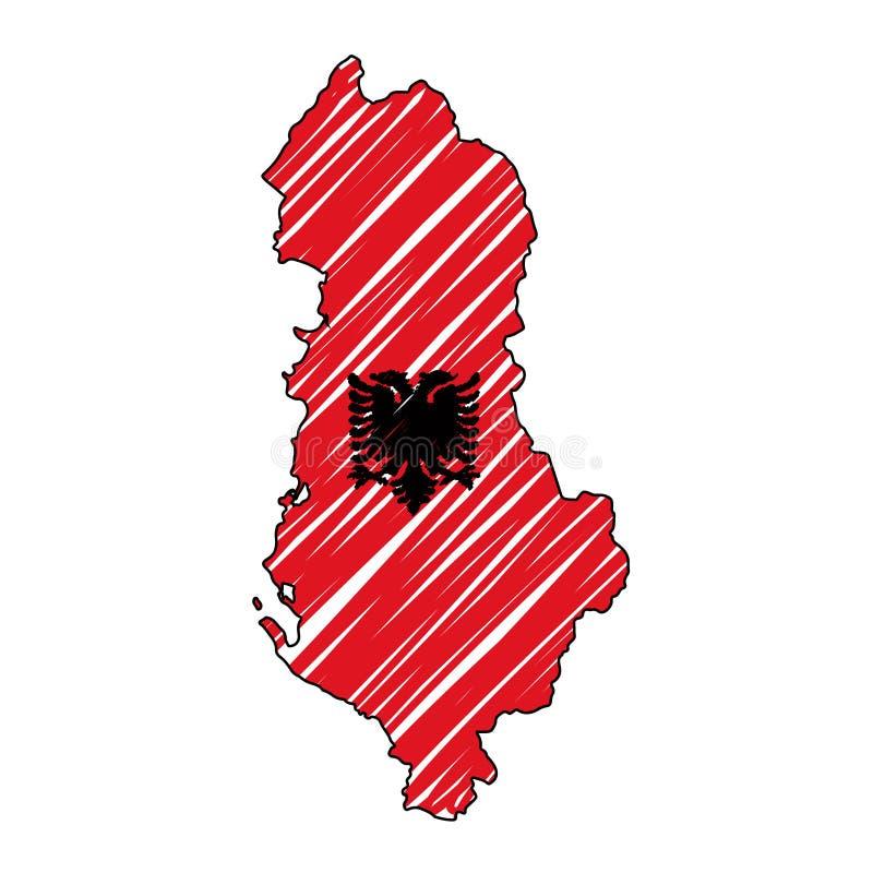 Bosquejo exhausto de la mano del mapa de Bulgaria libre illustration