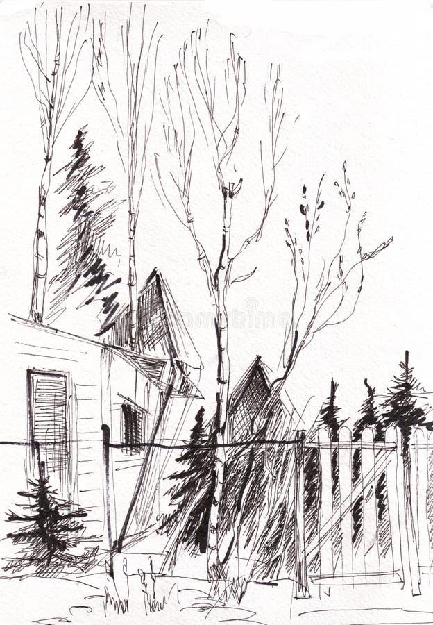 Bosquejo inmediato, casa libre illustration